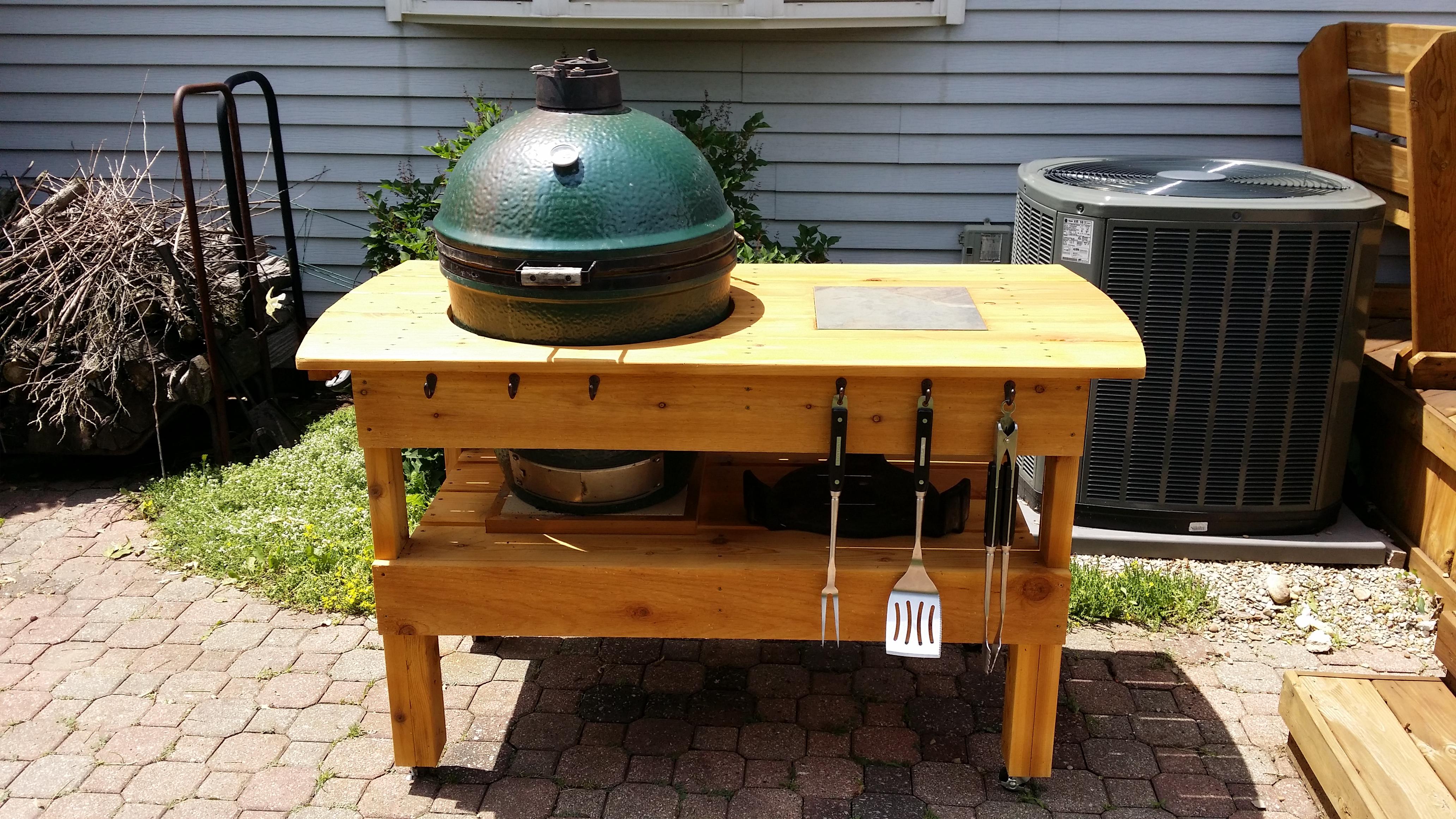 big green egg table. Black Bedroom Furniture Sets. Home Design Ideas